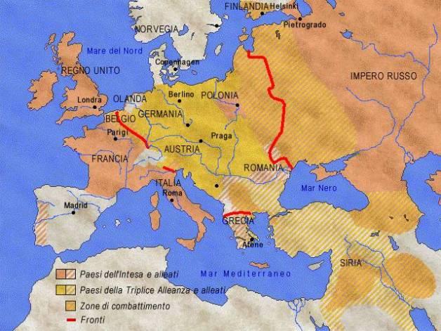 L'Europa della I guerra mondiale